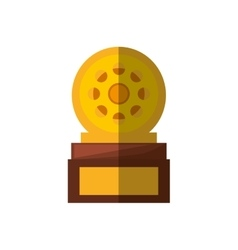 movie industry trophy awards shadow vector image