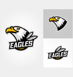 set of three eagle logos vector image