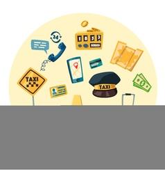 Taxi service Cartoon vector image vector image