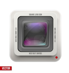The square icon photography or video lens vector image