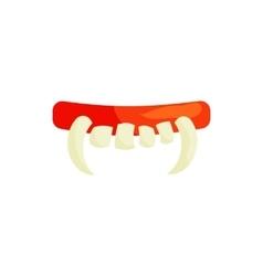 Vampire teeth icon in cartoon style vector image