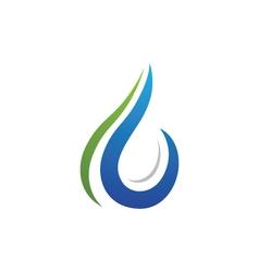 Water logo Template vector image
