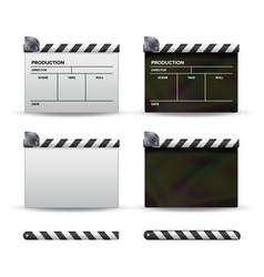 clapper board set of movie clapper board vector image