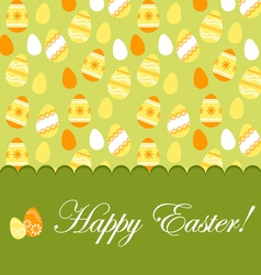 Easter greeting card with pattern vector image vector image