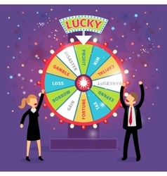 financial wheel of fortune Business vector image vector image