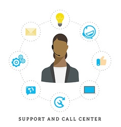 Icons for call center or hotline call center vector image vector image