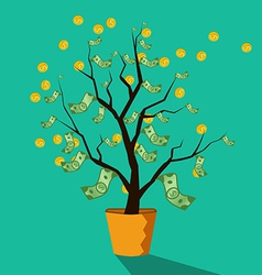 money tree of successful business vector image
