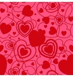 Red Heart shape seamless background Template vector image vector image