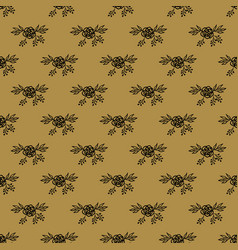 seamless pattern with hand drawn floral element vector image vector image