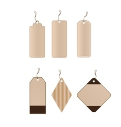 set tags vector image vector image