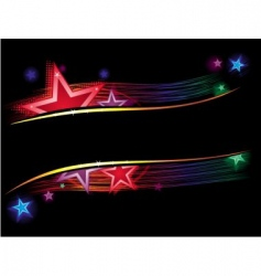 stars in color vector image vector image