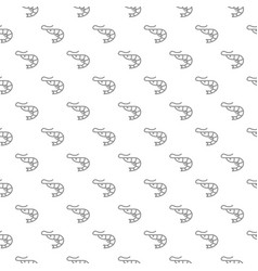 unique digital shrimps seamless pattern with vector image vector image