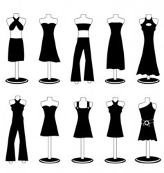 woman fashion clothes vector image