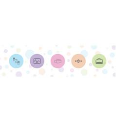 5 plug icons vector