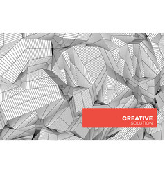 abstract geometric composition with decorative vector image