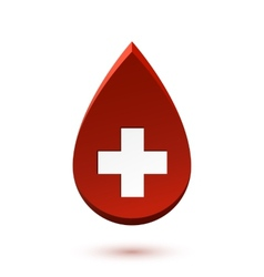 Abstract red drop medical symbol vector
