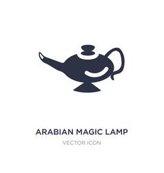 Arabian magic lamp icon on white background vector