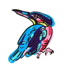Artistic bird sketch vector