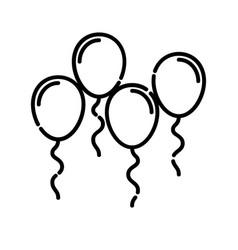baballoon icon design clip art line icon vector image