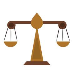 balance justice symbol vector image
