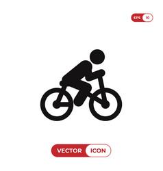 bicycle rider icon vector image