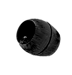 Black barrel on white background vector