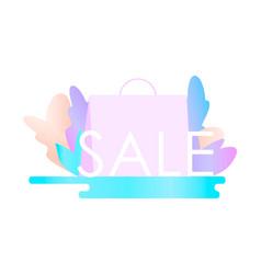black friday sale banner flat vector image