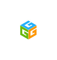 box letter g logo icon design vector image