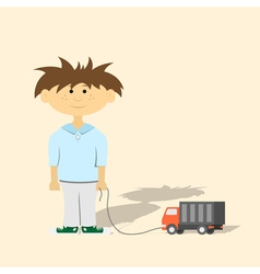 boy with toy vector image