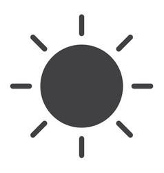 Brightness glyph icon web and mobile sun sign vector