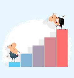 businessmen and graph vector image