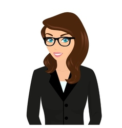 Businesswoman close-up vector image