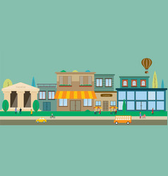 city streets in flat design vector image