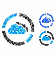 Cloud diagrams composition icon circle dots vector