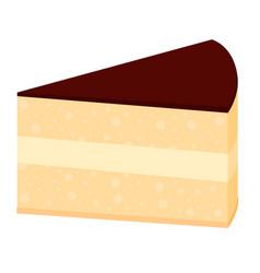 colorful cartoon birthday cake slice vector image