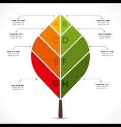 creative leaf info-graphics design concept vector image