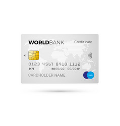 credit card with world map vector image