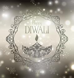 decorative diwali background 2109 vector image
