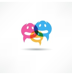 Dialog speech bubbles vector image