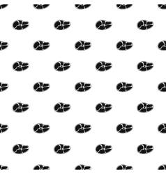 Dish steak pattern simple style vector image