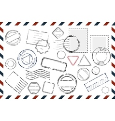 Envelope With Empty Stamps Composition vector image