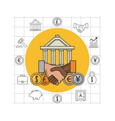 finance and trading cartoon vector image