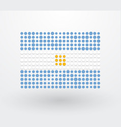 flag of argentina made up of small dots vector image