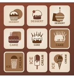 Food icons set symbols vector