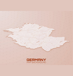 germany 3d map visualization futuristic hud map vector image