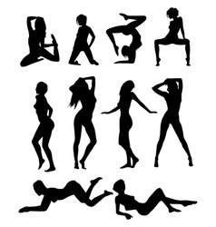 Girls poses vector
