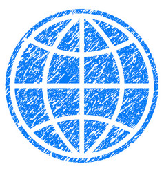 globe grunge icon vector image
