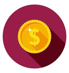 gold coin dollar vector image