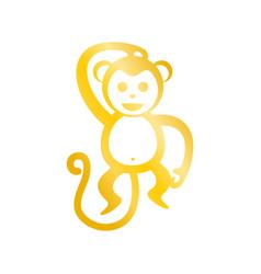 Golden monkey graphic vector