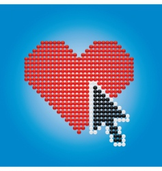 heart and arrow vector image